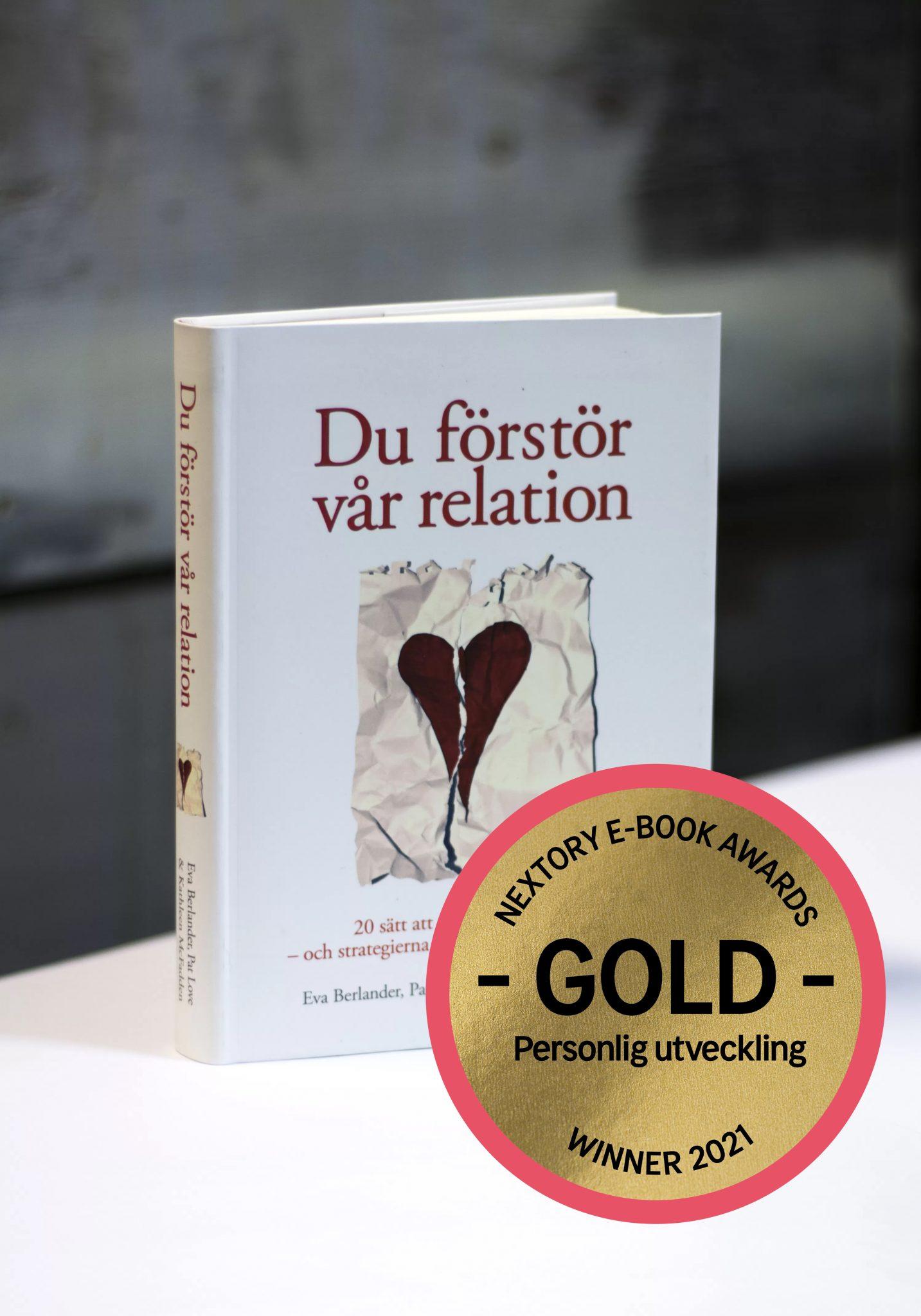 """Evas bok """"Du förstör vår relation"""" vinner pris på Nextory awards!"""